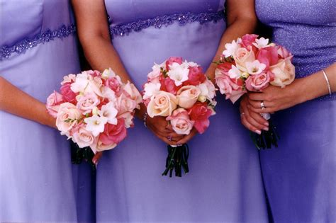And Bridesmaids Bouquets by Pink Flowers Mae Flower Co