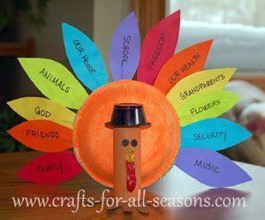 something easy to make for thanksgiving thankful turkey craft