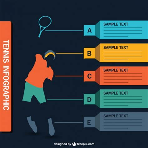 sports infographics templates tennis infographic vector vector free