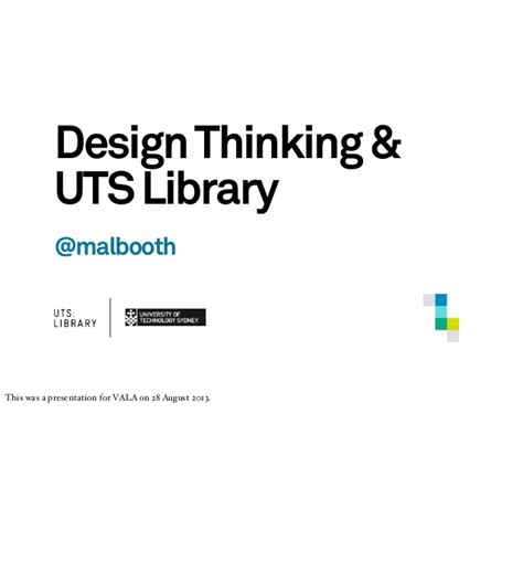 design thinking uts design thinking and uts library