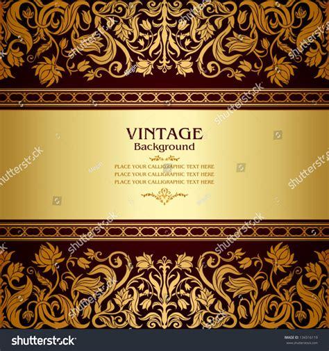 vintage background floral antique card stock