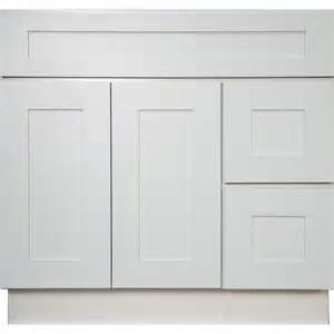 36 inch bathroom vanity single sink cabinet in white