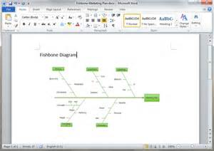ishikawa diagram template word fishbone diagram templates for word