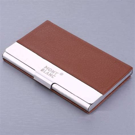 Leather Business Card Holder Template by Mont Blanc Business Card Holder Fragmat Info