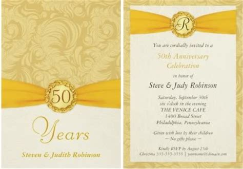 wedding anniversary invitation wording ideas 50th wedding anniversary invitation wording