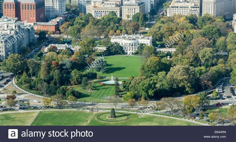 white house grounds aerial view of the white house and grounds in washington dc from stock photo