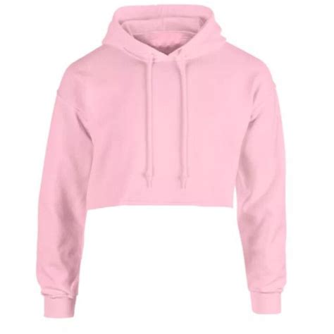Crop Hoodie Jumper Jaket Nevy goldie pink hoodie found on polyvore featuring tops