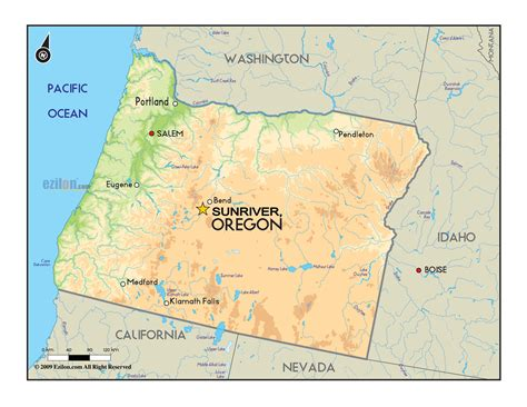 map or oregon sunriver oregon map my