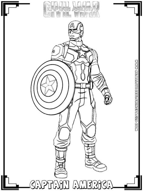 Marvel Captain America Coloring Pages Coloring Home Captain America Civil War Coloring Pages