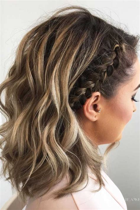 hairstyles for open medium hair 30 cute braided hairstyles for short hair braid