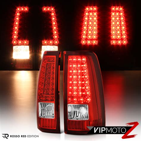 2000 silverado tail lights 1999 2000 2001 2002 2003 chevy silverado quot rosso red quot led