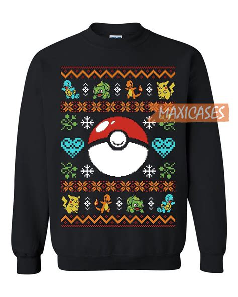 48399 Maxi Evel Hodie pokeball sweater unisex