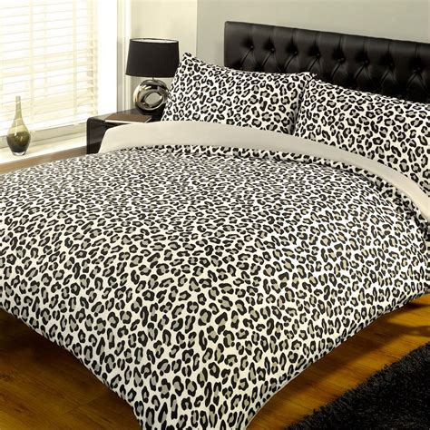 Leopard Print Duvet Contemporary Abstract Animal Print Floral Duvet Cover