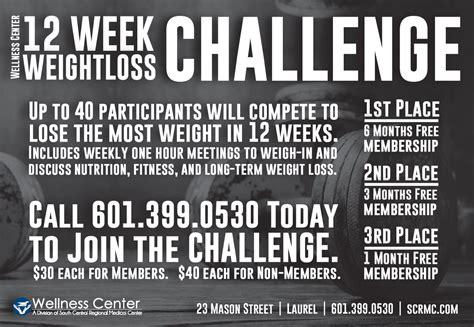 12 week challenge 12 week weight loss challenge wellness center south