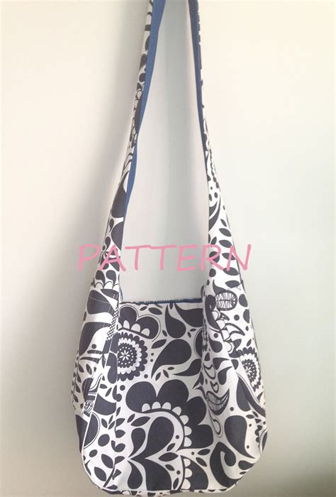 sewing pattern reversible tote bag pattern hobo bag with pockets reversible sling bag sewing