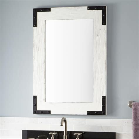 bathroom mirror wood reclaimed wood bathroom mirror frame doherty house