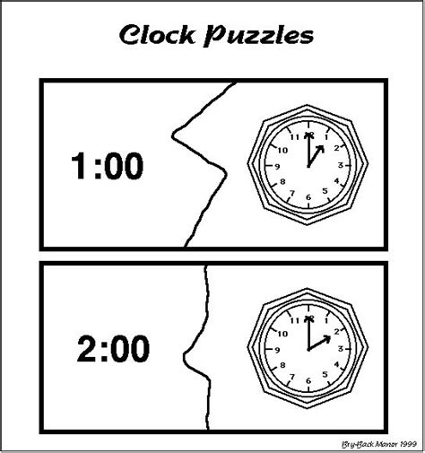 printable adjustable clock telling time puzzles and telling time activities on pinterest