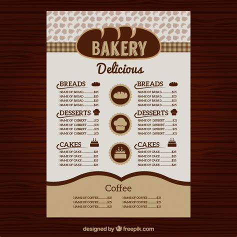 menu template ai 30 bakery menu template free psd ai indesign and eps