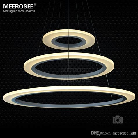 Ring Of 3 Lights by Discount 3 Rings Circles Modern Led Chandelier Pendant