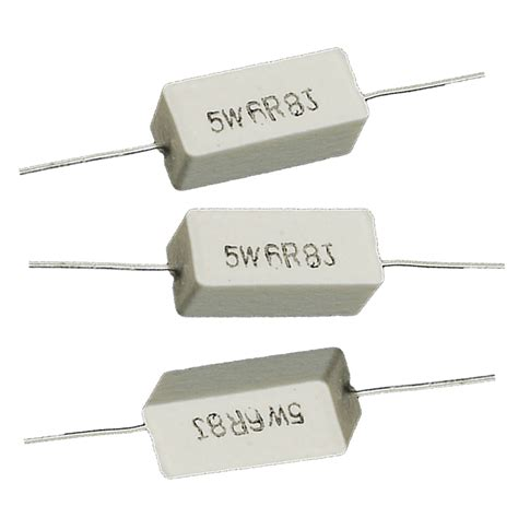 power resistor 5 6 ohm 5w 6 8 ohm 6r8 ceramic cement power resistor 5 watt 10 pcs ws ebay