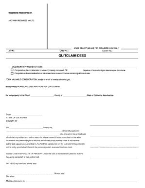 printable quit claim deed indiana ca quitclaim deed fill online printable fillable