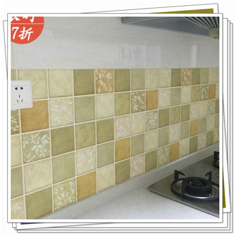 Waterproof Bathroom Tiles by Mosaic Thickening Wallpaper Bathroom Waterproof Stickers