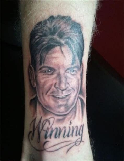 charlie sheen tattoos sheen still winning bad pictures