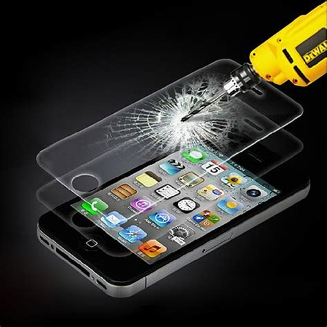 Non Packing Tempered Glass Iphone 4g Merk Norton Original real tempered glass screen protector guard shield for various mobile phone