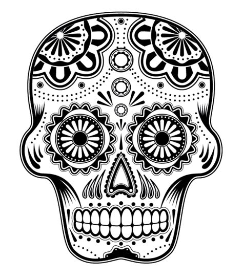 day of the dead skull template free printable sugar skull coloring pages