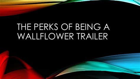 the perks of being a wallflower trailer analysis