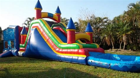 water bounce house party rentals in miami bounce house tent