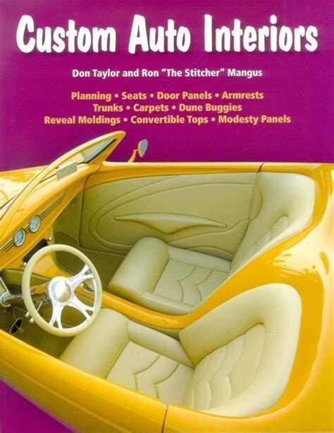 auto upholstery books custom auto interior step by step guide book street hot