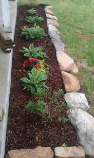 flower bed edging ideas landscaping  rocks