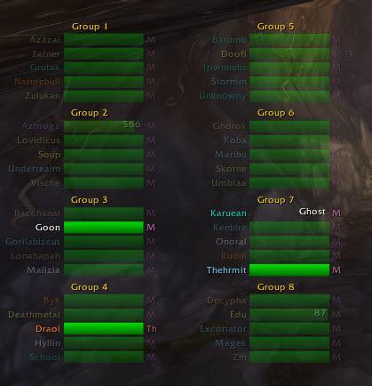 wow raid frame add ons perfectraid raid mods world of warcraft addons
