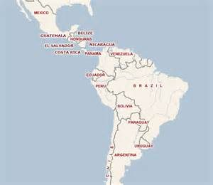 maps map of central and south america rental car car hire america central america south