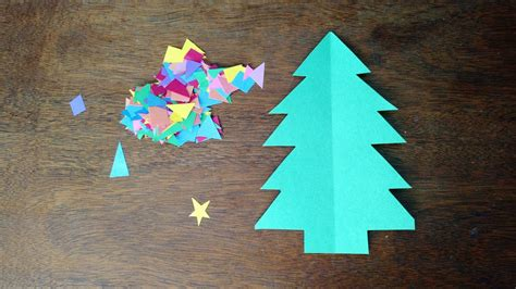 construction paper christmas tree where s my two easy paper crafts for