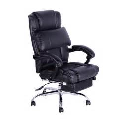 homcom reclining office chair leather chair high back