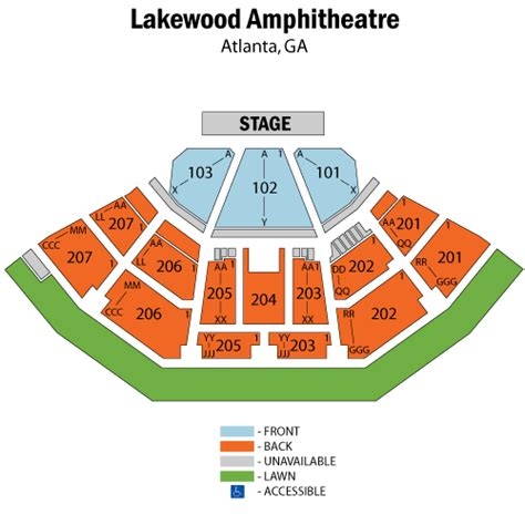 aaron s lakewood hitheatre seating chart rascal flatts and big town october 20 tickets
