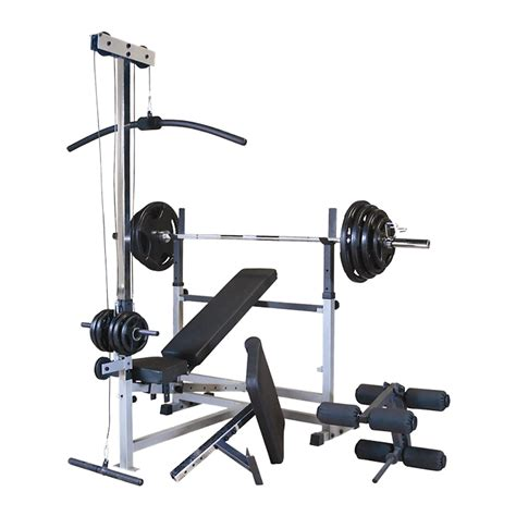 body solid combo bench body solid powercenter bench w attachments gdib46lp4