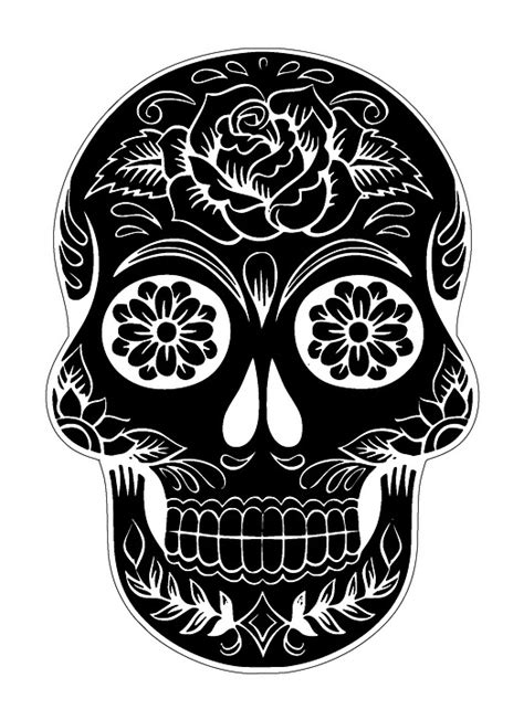 free illustration skull sugar skull tattoo free image