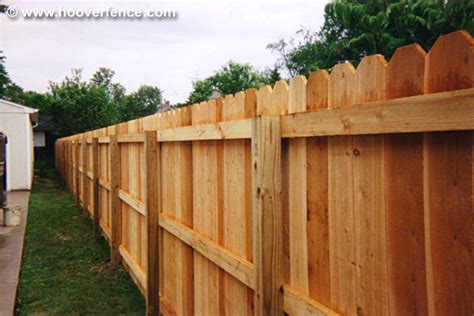 ear fence solid ear privacy wood fence panel pricing hoover fence co