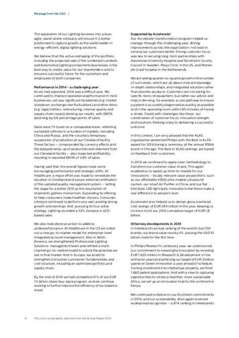 annual report sections philips sustainability section annual report 2014