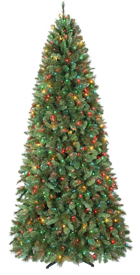 9ft straford slim christmas tree with 900 multi colored