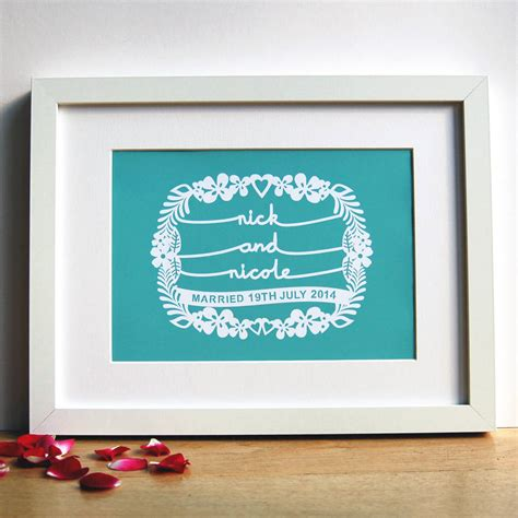 Wedding Gift Print by Personalised Wedding Gift Print By Ant Design Gifts