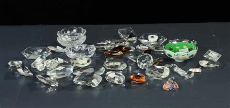 gocce di vetro per ladari lotto di gocce in cristallo per ladario antiquariato
