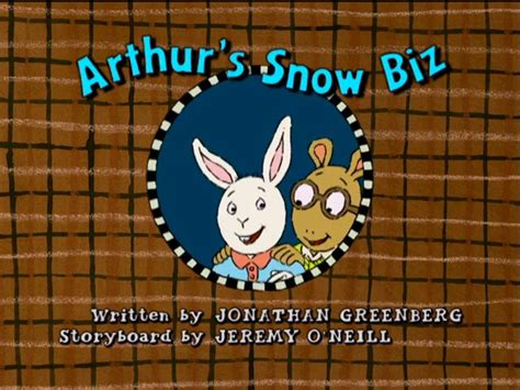 arthur title cards season 11 arthur s snow biz arthur wiki fandom powered by wikia