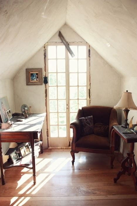 little office in the attic for the home pinterest