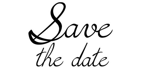save the date png black and white transparent save the date black