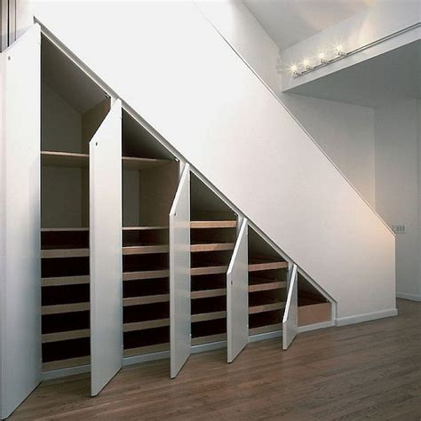 25 best ideas about stair storage on