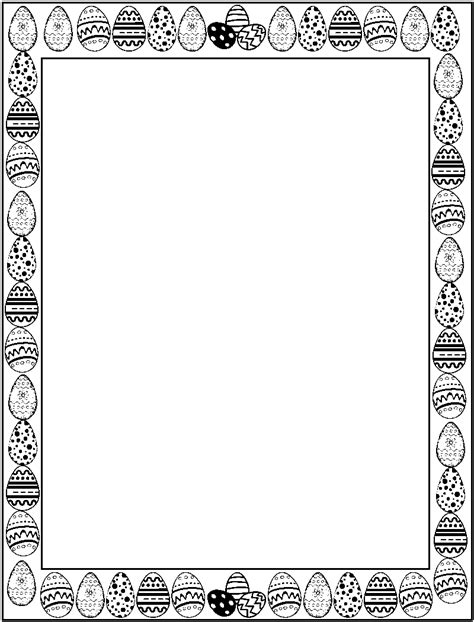 free spring borders black and white clipart